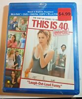 This is 40 Bluray+DVD+Digital Copy 2012 Leslie Mann Paul Rudd Megan Fox NEW