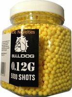 Bulldog High Pro Grade 6mm 0.12g Light Weight Yellow BB Pellets x 5000 Tub
