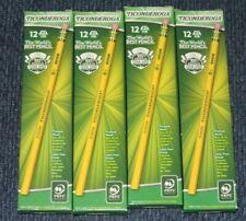 Lot of 4 -Ticonderoga Dixon #2 Pencils HB Yellow box of 12