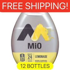 12 Bottles MIO LEMONADE liquid Water Enhancer. 1.62 Oz Per Bottle.