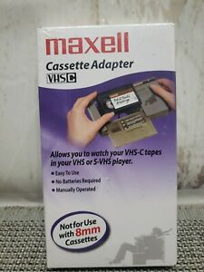 New Sealed Maxwell VHS-C Cassette VCR Tape Adapter