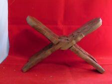 Vintage Carved Wood Folding Book Stand