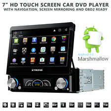 "7"" Flip Out HD Android 6.0 GPS Bluetooth Car Stereo With Radio DVD USB SD Aux"