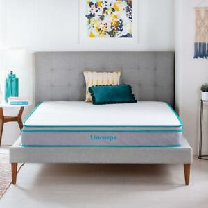 Memory Foam Hybrid Bedroom Mattress 8 Inch Profile AlwaysCool Multiple Sizes