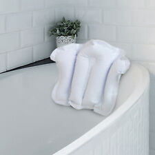 Relaxing Soft Inflatable Bath Bathroom Pillow Spa Head Neck Rest Comfort Cushion