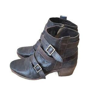 KBD KELSI DAGGER womens size 8 leather brown Brooklyn buckle boho ankle booties
