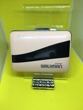 SONY WM-38 Walkman - Stereo Cassette Player-Pink. Made in Japan. DOLBY NR WORKS