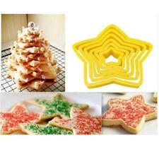 Hot Mould Fondant Cake Decorating Tool DIY Stars Shape Cookie Cutters Mold 6Pcs