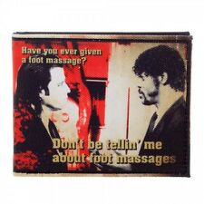 MIRAMAX PULP FICTION I'M THE FOOT F*CKING MASTER MASSAGE BIFOLD CANVAS WALLET