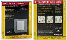 "MEDLINE STRATASORB Adhesive Island Wound Dressing 4""x4"" 10/BX Waterproof Sterile"