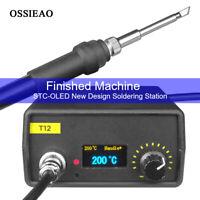 Digital OLED T12 Soldering Iron Station Temperature Controller 75W For HAKKO