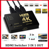Répartiteur Multiprise HDMI Splitter commutateur avec cable 3 entrees 1 sortie