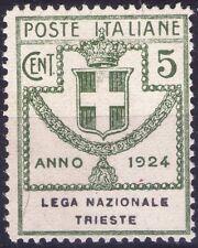 REGNO D'ITALIA - ENTI PARASTATALI - RARO FRANCOBOLLO DA 5 CENT. - 1924
