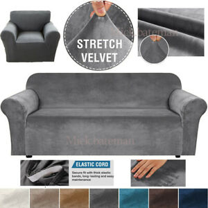 Stretch Elastic STRETCH SOFA COVERS Slipcover Protector Settee 1/2/3/4 Seater