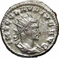 CLAUDIUS II Gothicus Authentic Ancient 268AD Antioch Roman Coin SERAPIS i84914
