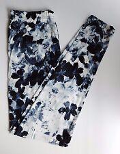 Leggings Floral Pressed Flowers Plus Tall and Curvy TC 3X 4X Gray Black  16-24