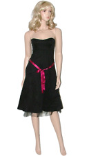 BNWT Black Editions Evening Party Dress Size 12 Ladies Prom Frock Strapless