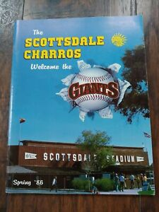 Spring 1986 San Francisco Giants Affiliate ⚾Scottsdale Charros Program HTF EX+