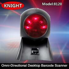 Desktop Omnidirectional Laser Barcode Scanner Bar Code Reader YK-8120 ABS+PMMA
