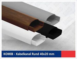 Kabelkanal halbrund 40x20 mm / SELBSTKLEBEND / verschiedene farben (5x1 Meter)