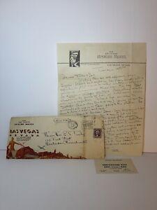 Apache Hotel Las Vegas Vintage 1937 Decorative Letterhead