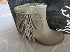 NEW SAM EDELMAN LOUIE MOSS FRINGE BOOTIES BOOTS WOMENS 7.5 ANKLE BOOTS