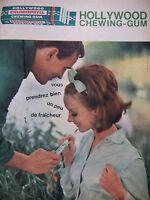 PUBLICITÉ DE PRESSE 1962 HOLLYWOOD CHEWING-GUM UN PEU DE FRAICHEUR - ADVERTISING