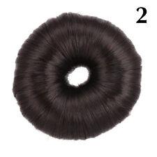 Hot Women Synthetic Fiber Hair Bun Donut Ring Blonde Hair Extension Wig