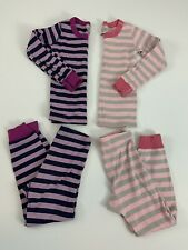 Hanna Andersson Pajama Size 6 - 7 Girls Euro 120 cm Lot Of 2 Striped Long Sleeve