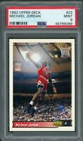 Michael Jordan Chicago Bulls 1992 Upper Deck Basketball Card #23 Graded PSA 9