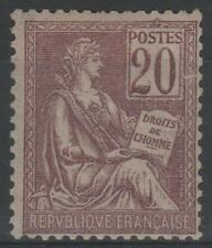 """FRANCE STAMP TIMBRE N° 113 """" TYPE MOUCHON 20c BRUN-LILAS """" NEUF xx TTB  N060"""