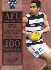 2012 AFL SELECT Milestone 100 Matthew Stokes Geelong CATS #MG26