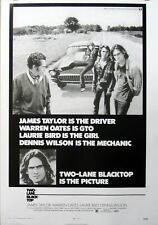 Two Lane Blacktop James Taylor Large POSTER classic!