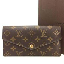 Authentic Louis Vuitton Monogram Portefeiulle Sarah Long Bifold Wallet /u282