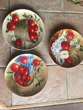 3 Decorative Plates Featuring Apples