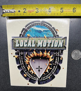 VINTAGE LOCAL MOTION STICKER/ DECAL/LARGE/ SURFING