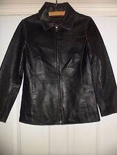 Ladies Helium Black Leather Jacket Size 10