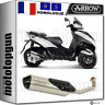 ARROW LIGNE COMPLETE CAT REFLEX 2 NICHROM PIAGGIO MP3 300 YOURBAN 2011 11