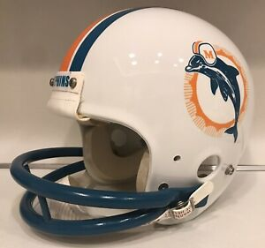 Vintage 1980s Miami Dolphins Game Used Style Maxpro Football Helmet Mark Duper