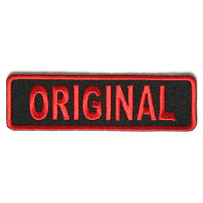 Embroidered Original Red on Black Sew or Iron on Patch Biker Patch