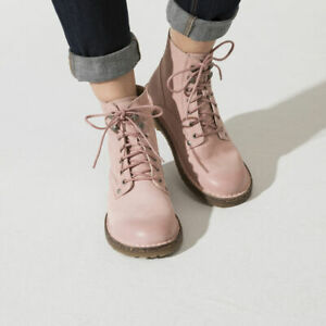 BIRKENSTOCK BRYSON SOFT PINK ANKLE BOOTS WOMEN'S LEATHER SHOES