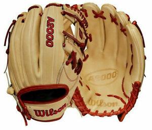 """2021 Wilson A2000 1787 Infield Glove 11.75"""" WBW1000891175 Baseball Blonde RHT"""
