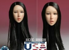 1/6 Asian Female Head Sculpt with Tongue A SUPER DUCK For Hot Toys Phicen USA