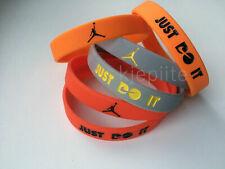 Nike JORDAN Just Do It. wristband baller sport bracelet red black gray silicone