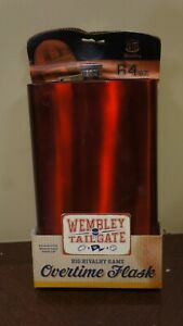 Wembly Tailgate Overtime 64 Oz Brushed Stainless Steel JUMBO Flask