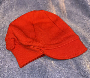 Red Hat Cap Hat Bike Cycling Vintage 70'S Heroic Wool The Jacobs Corporation