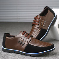 Men Genuine Leather Splicing Driving Shoes Casual Oxfords Non-slip Soft Sole
