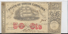 1864 STATE OF NORTH CAROLINA FIFTY CENT FRACTIONAL NOTE - CIVIL WAR ERA