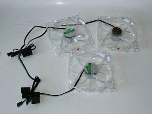 3x 120mm Gehäuselüfter Lüfter 3 Pin LED ROT für Computer Gehäuse (MR2TO)