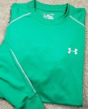 UNDER ARMOUR COLDGEAR-Kelly Green, Mens LS/Crew, FITTED Base.Layer Shirt-(L)